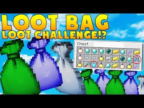 MINECRAFT MODDED LOOT BAG LOOT CHALLENGE w/ BAJANCANADIAN - BATTLE MODDED MINIGAME
