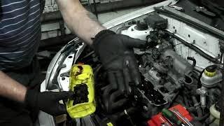 Chevrolet Lanos двс 1.5 A15SMS замена сальников клапанов.