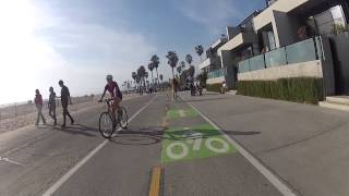 Pedestrian and bicycle accident on Venice Beach