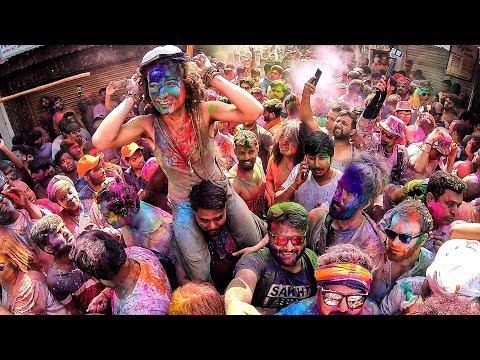 Foreigners Dancing In Holi Festival At Pushkar - Craziest People On Earth | Pushkar Holi 2019 |
