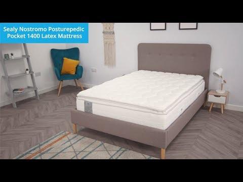 Sealy Posturepedic Nostromo Latex 1400 Pocket Pillow Top Mattress