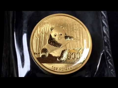 Gold panda coins: collection 2011-2017