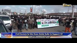 Civil society in Edo holds rally in support of June 12 Democracy Day