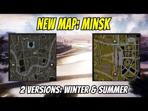 World of Tanks || New Map Minsk on Supertest