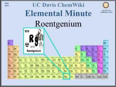 ChemWiki Elemental Minute Overview: Roentgenium