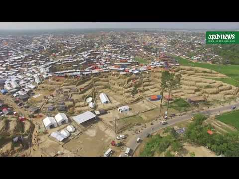 Exclusive Arab News drone footage of Rohingya camps in Bangladesh