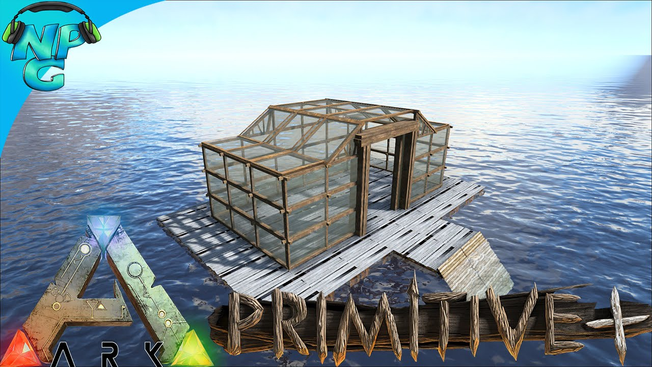 Building a floating house no raft primitive ark for Construct a house online
