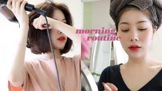 수다떨며 준비하는 느긋한 아침?! ☕️My Morning Routine (스킨케어 /붓기빼기 /메이크업 / 석촌호수 나들이) with sub!