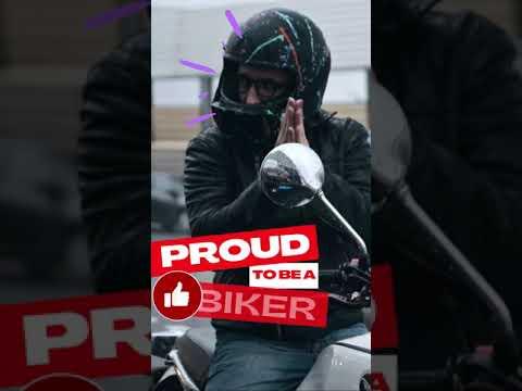 Motorcycle getting applauded