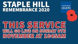Staple Hill Remembrance 2020