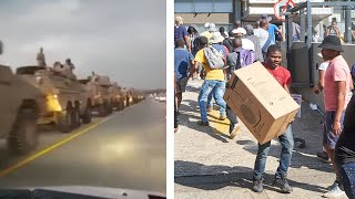 video: South Africa sends in troops as Jacob Zuma riots leave 30 dead