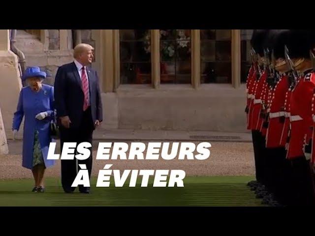 Trump et la Reine Elizabeth II\: les erreurs de protocole qu\'il devra (cette fois) éviter