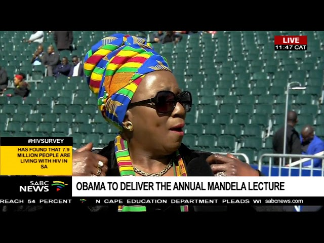 South African singer Mara Louw remembering former South African president Nelson Mandela.