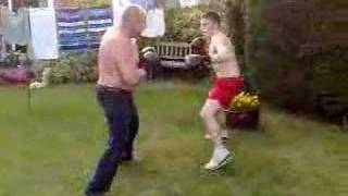 me and my dad sparring