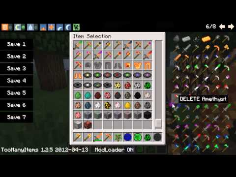 Minecraft - New Beginnings Mod: Ruby Tipped Diamond Pickaxe?!?!