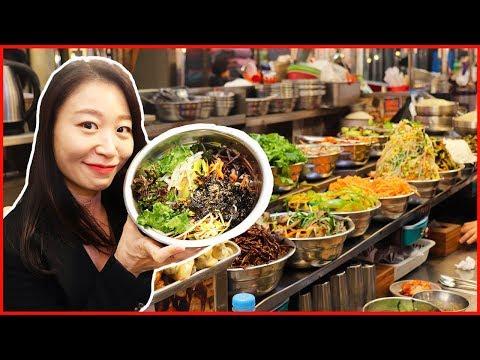 Bibimbap, Korean Street Food at Gwangjang Market