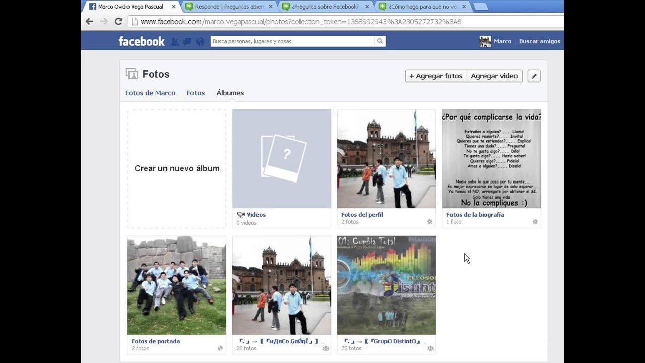 Hacer de que mis fotos de facebook solo lo puedan ver mis amigos ...