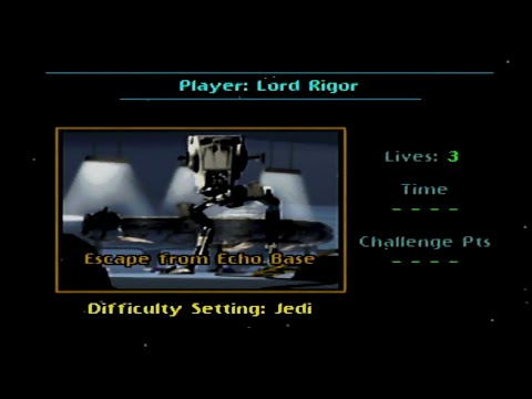 N64 Star Wars: Shadows of the Empire - Level II [Jedi Difficulty]  / Escape From Echo Base |