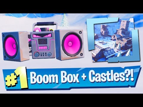 NEW Boom Box Gameplay + Snow Castle Creative Prefabs! - Fortnite Battle Royale