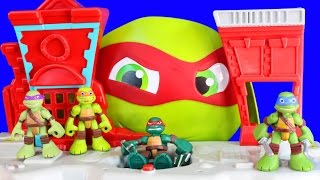 TMNT Teenage Mutant Ninja Turtles Half Shell Heroes Half Shell Headquarters Playset