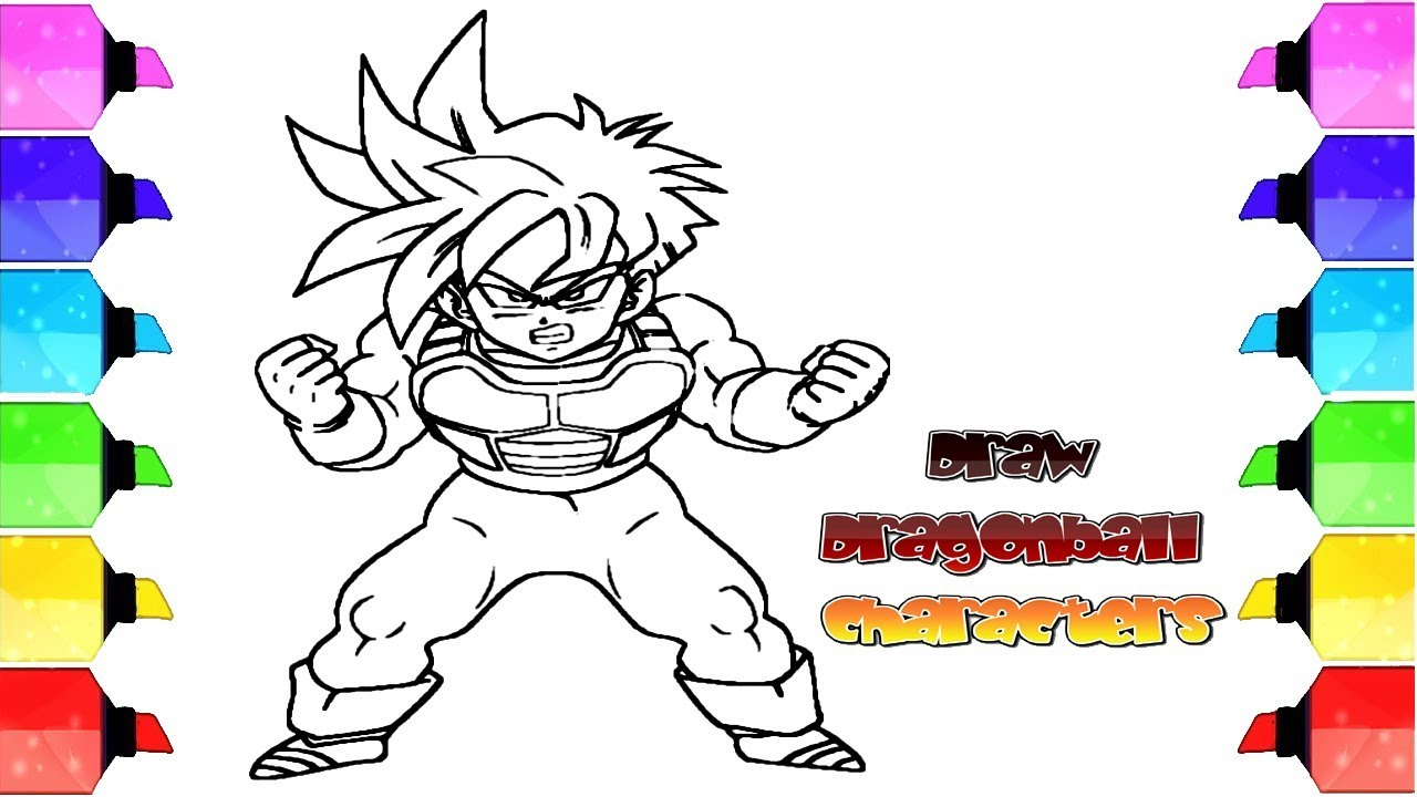 How To Draw Dragonball Z Characters Easy Tutorial Drawing Extra