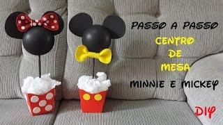 Como fazer? Diy lembrancinha centro de mesa do Mickey