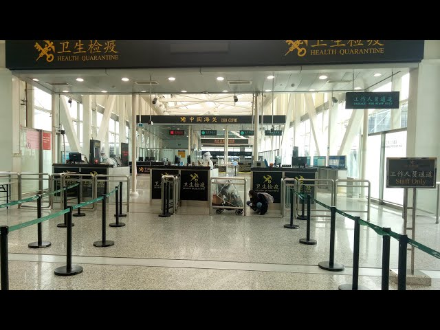 Coronavirus In China: Biosecurity Measures In Chinese Airports