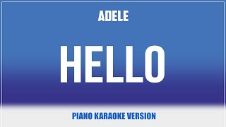 Hello (Piano Version) KARAOKE - Adele