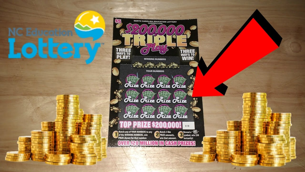 $200,000 TRIPLE PLAY NC LOTTERY TICKET - YouTube