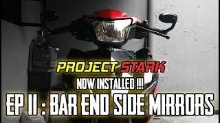 Bar End Side Mirrors on Yamaha Sniper 150