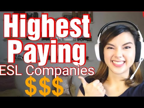 ESL Companies With Highest Starting Rate | Work From Home 2020 | Online Jobs PH