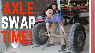 M101 Army Trailer Axle Swap and Hub Conversion!!!