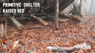 Primitive Bushcraft Shelter: Raised Bed Addition