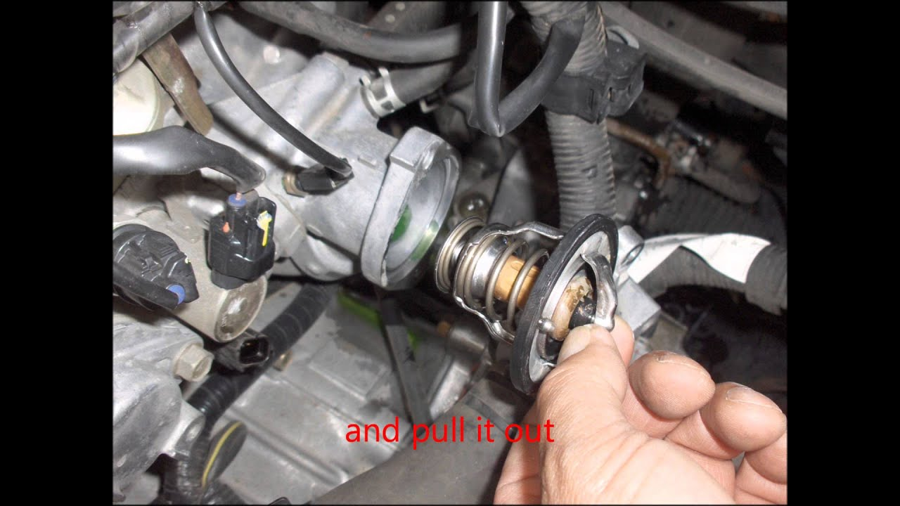 how to replace 2003 2004 2005 2006 mitsubishi outlander thermostat youtube [ 1440 x 1080 Pixel ]