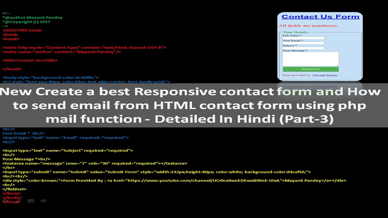 New How To Send Email From Html Contact Form Using Php Mail Function