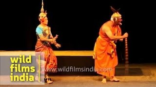 Ramayana from Cambodia - acted out in India!