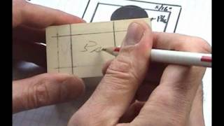 How to wood carve a ball in a box part 1