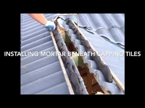 Installing capping tiles to a new concrete tile roof