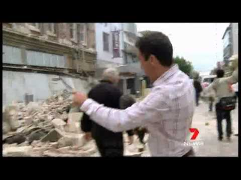 Seven News Melbourne 22/2/11 - Christchurch Earthquake Coverage
