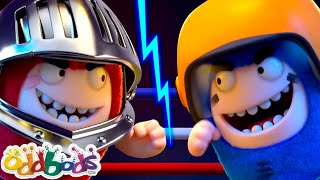 ODDBODS | Red VS Blue - Fuse VS Pogo | Cartoons For Kids