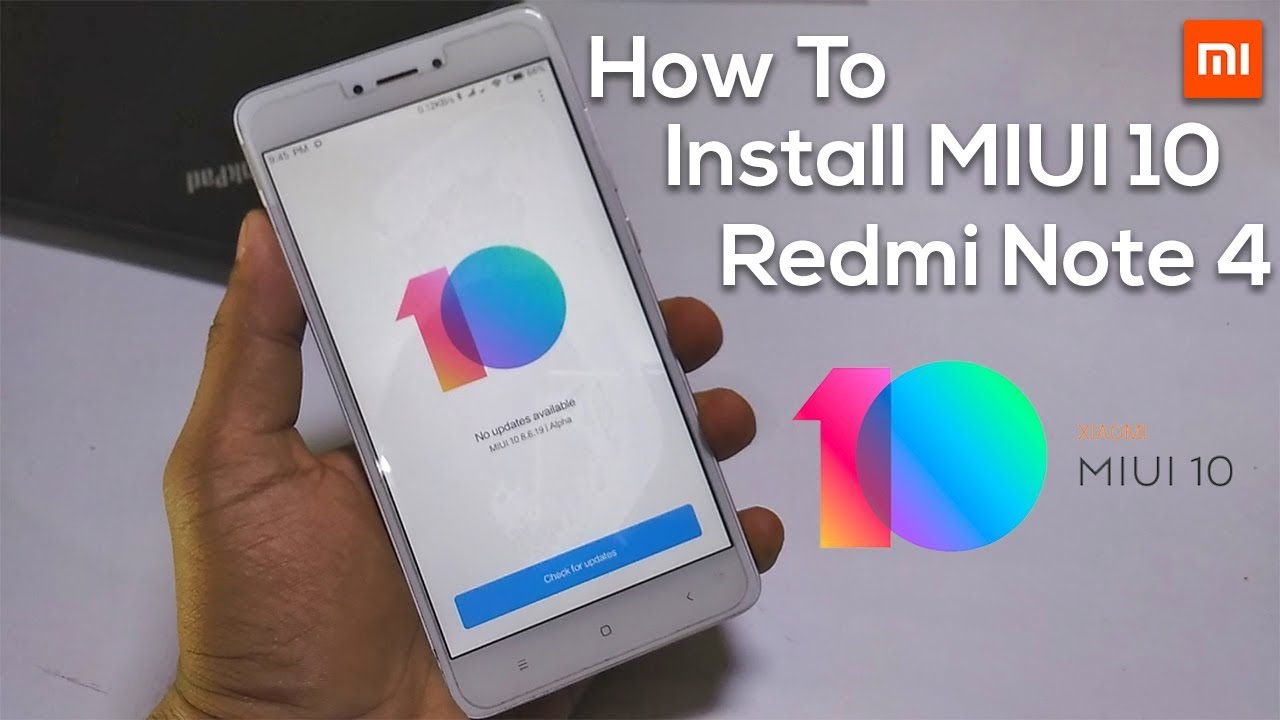 How to Install MIUI 10 China Alpha ROM On Redmi Note 4!