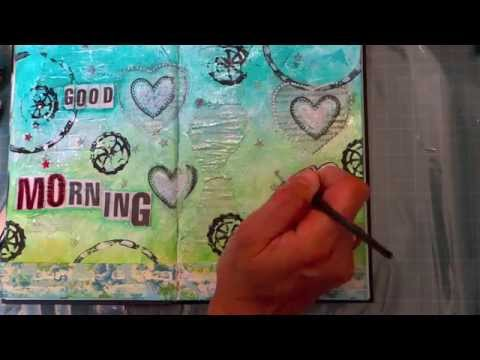 "Art journal mixed media ""Good Morning!"".Tuto en Français"