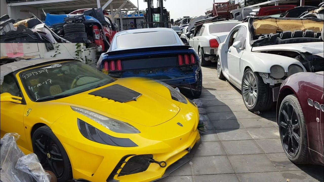 Crashed Supercars Scrapyard Only In Dubai Youtube