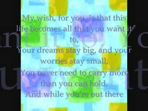 Rascal Flatts- My Wish (Instrumental/W lyrics)