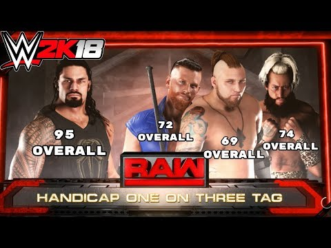 WWE 2K18: What Happens When The Highest Overall Superstar Faces The Three Lowest?