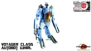 Video Review of the Transformers Generations: Voyager Class Autobot Whirl