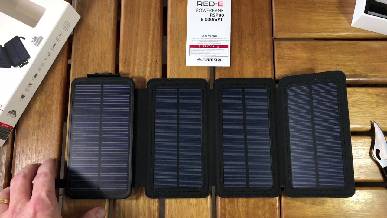 Unboxing the Red-E Solar RSP80 Powerbank - Самые лучшие видео