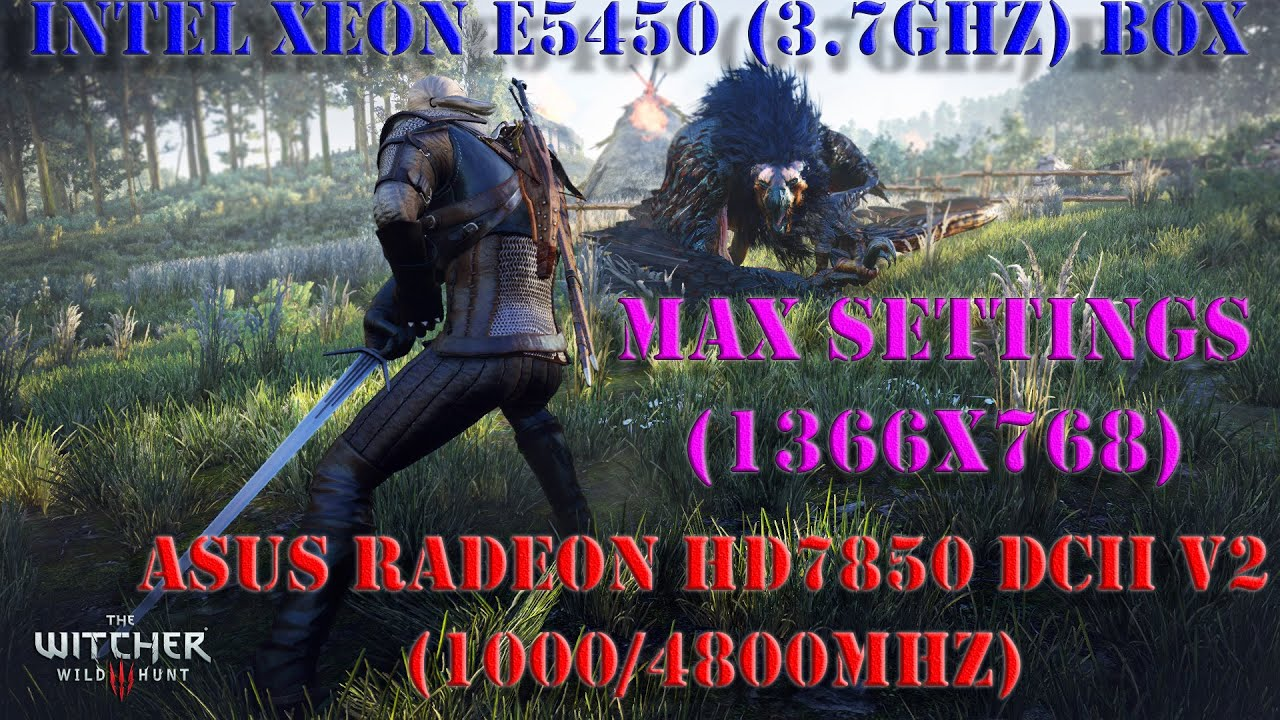 The Witcher 3 Max Settings, раскроет ли Xeon E5450(Q9650)3.7GHz, видеокарту HD7850(R7 265/370)