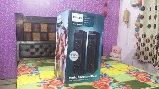 About unboxing video of Philips SPT6660 2 0 Tower Speaker SPT 6660 system --- HINDI Part 1