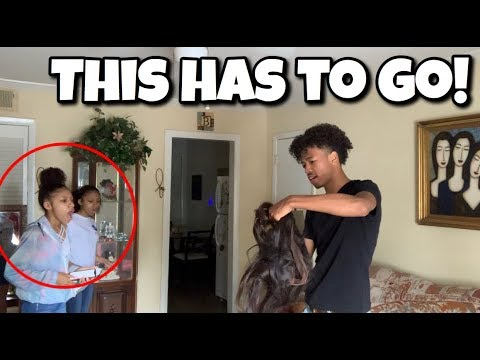 CUTTING MY TWINS SISTERS HAIR PRANK!! (THEY GOT EXTREMELY MAD)